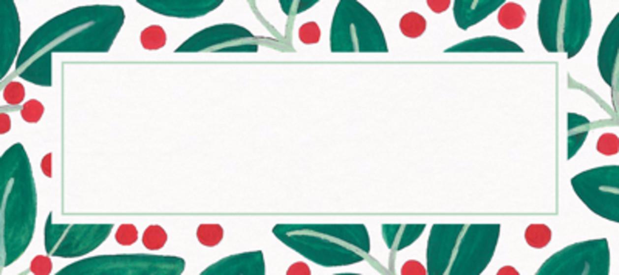 Christmas Berries & Leaves | Personalised Place Name