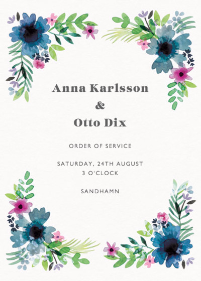 Midsummer | Personalised Order Of Service