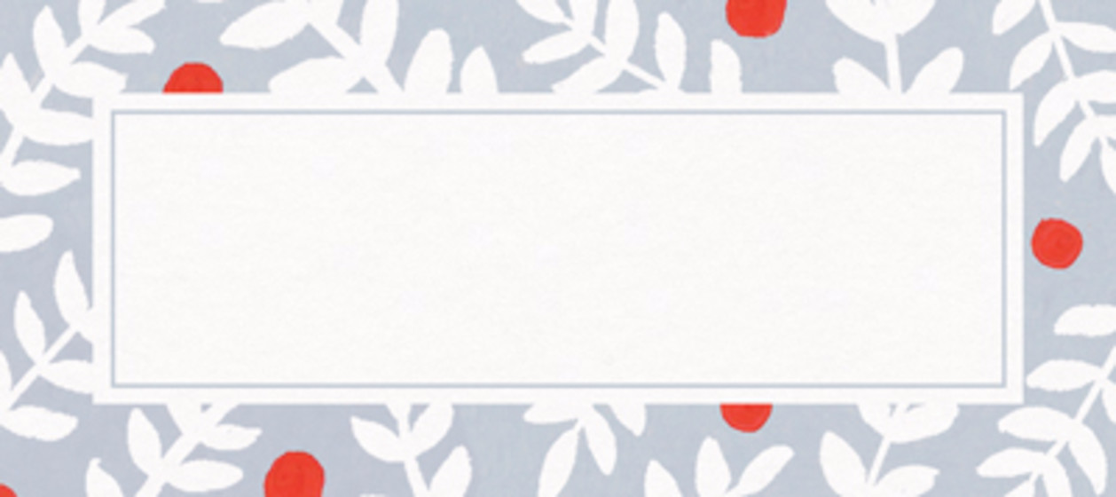 Christmas Berries | Personalised Place Name