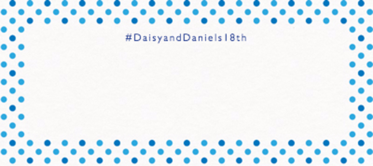 Dotty Blue | Personalised Place Name