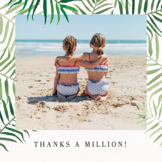 Palms Photo | Personalised Thank You Card Set
