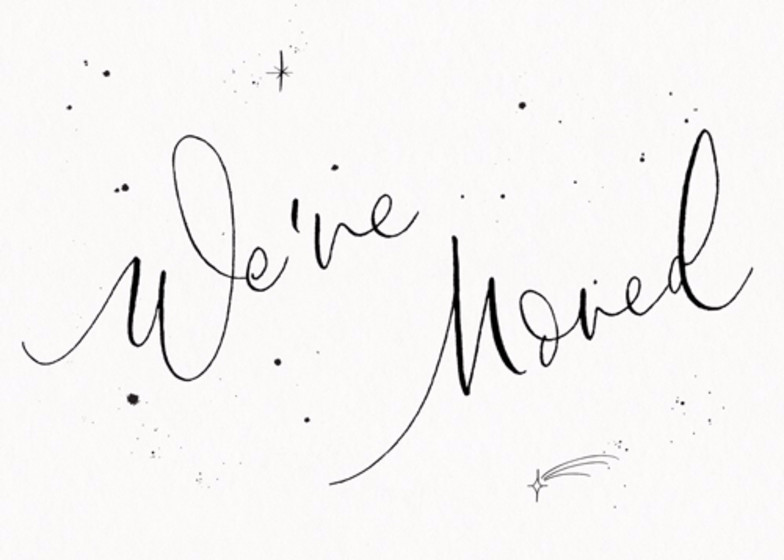 We've Moved Starry | Personalised Moving Announcement