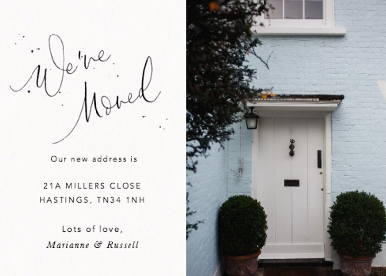 We've Moved Speckle Photo | Personalised Moving Announcement