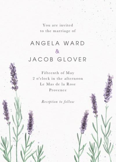 Lavande   Personalised Wedding Invitation