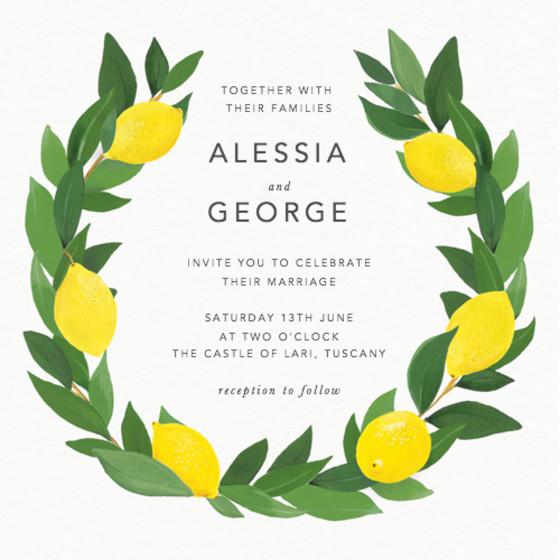 Limoni   Personalised Wedding Invitation