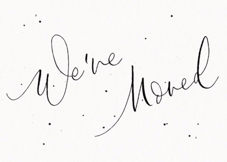 We've Moved Speckle | Personalised Moving Announcement