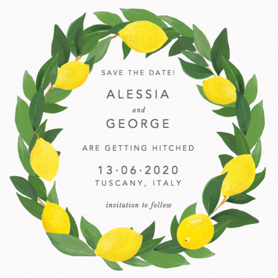 Limoni | Personalised Save The Date
