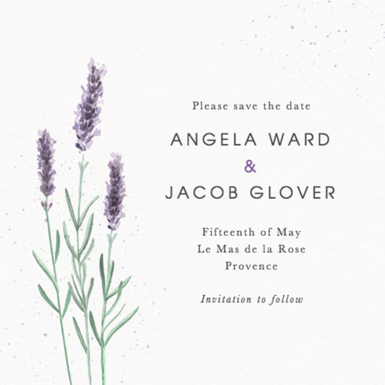 Lavande | Personalised Save The Date