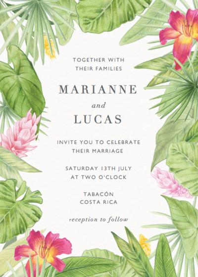 Miravalles   Personalised Wedding Invitation