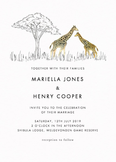 Savanna | Personalised Wedding Invitation