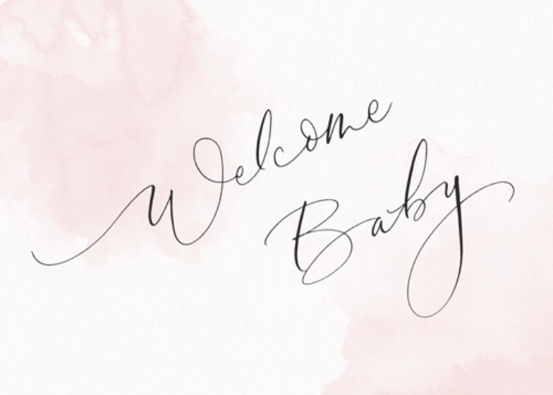 Welcome Baby Blush | Personalised Congratulations Card