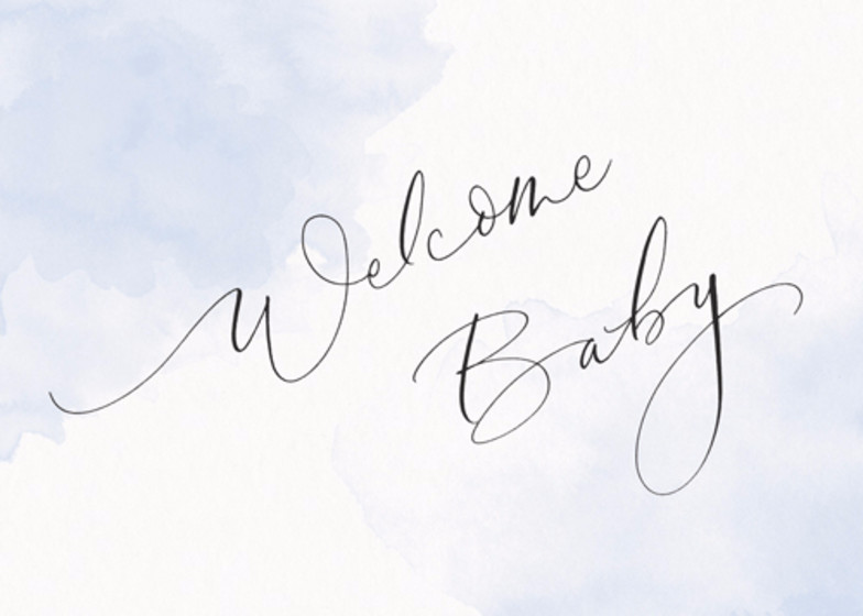 Welcome Baby Blue | Personalised Congratulations Card