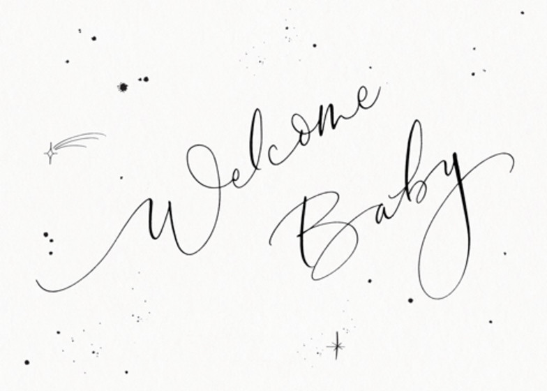 Welcome Baby Starry | Personalised Congratulations Card