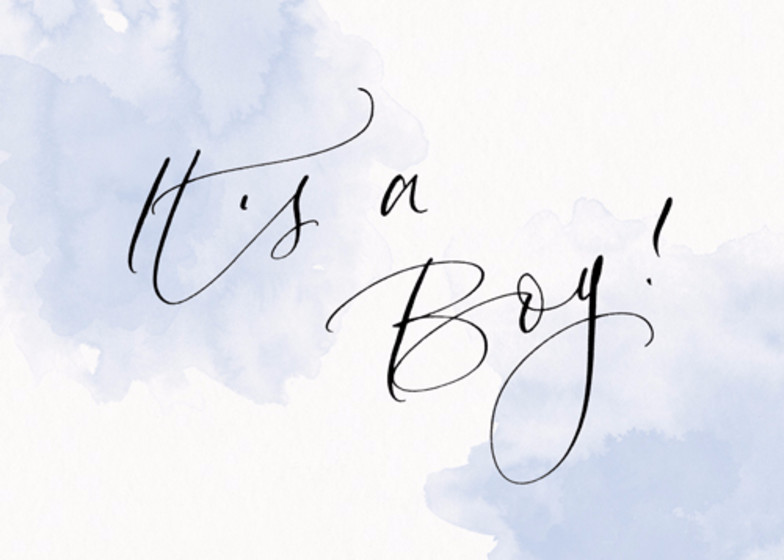 It's A Boy Blue   Personalised Congratulations Card