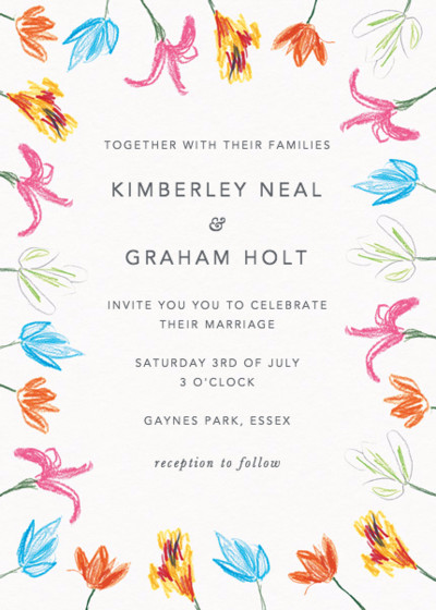 Spring Tulips | Personalised Wedding Invitation
