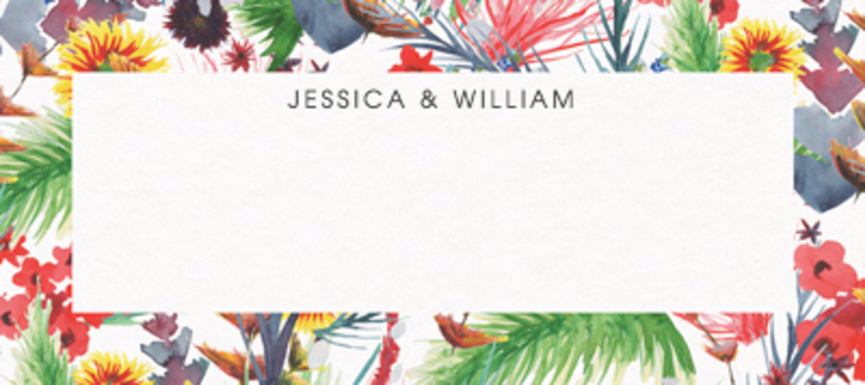 Wild Floral   Personalised Place Name