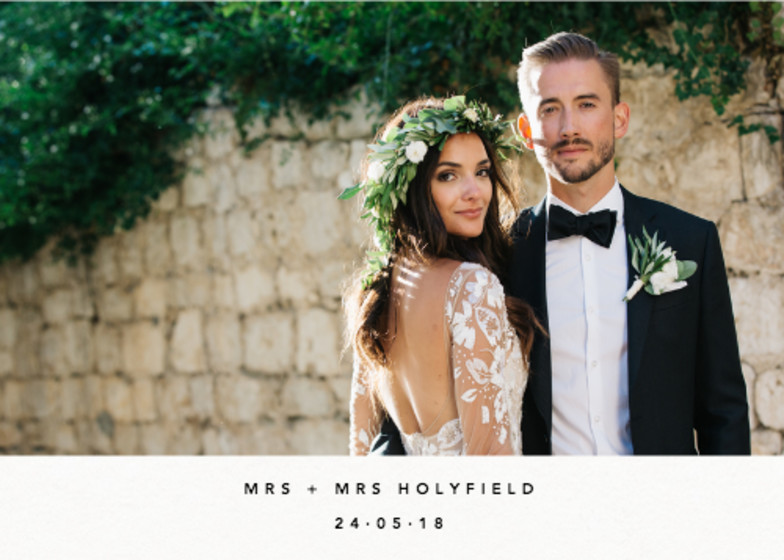 Landscape Wedding Photo | Personalised Photo Card Set