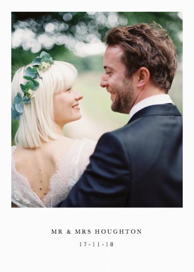 Portrait Wedding Photo | Personalised Photo Card Set