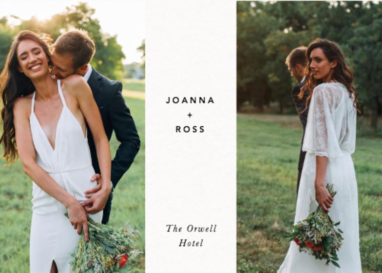 Landscape Wedding Duo | Personalised Photo Card Set