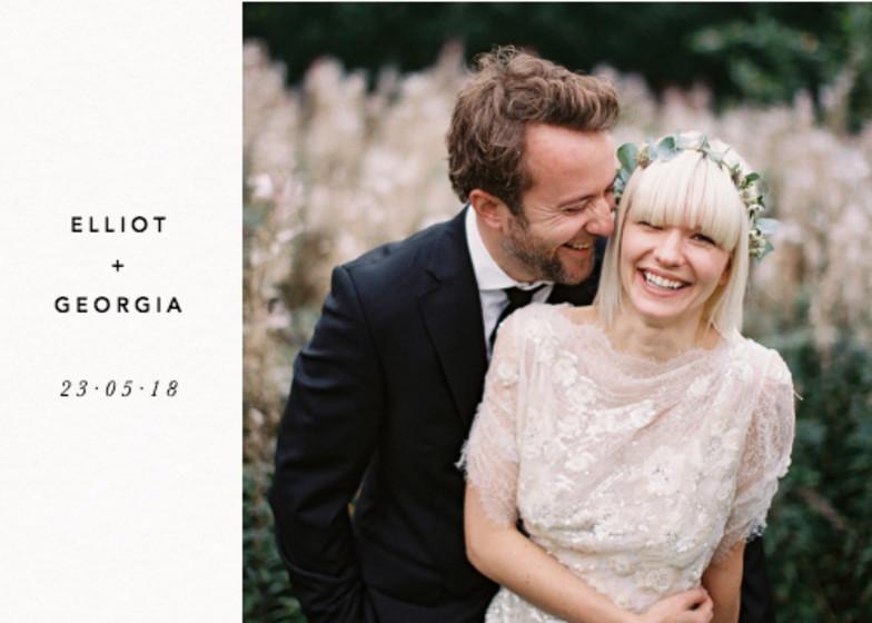 Landscape Wedding Thank You | Personalised Photo Card Set