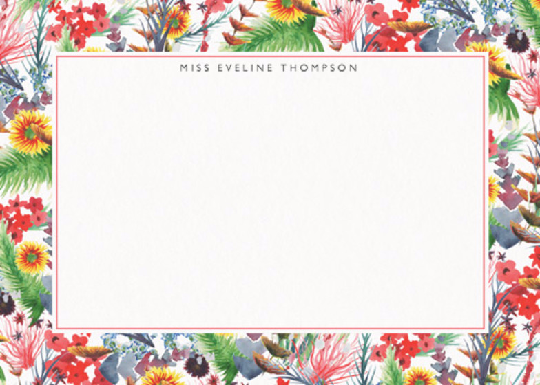 Wild Floral | Personalised Stationery Set