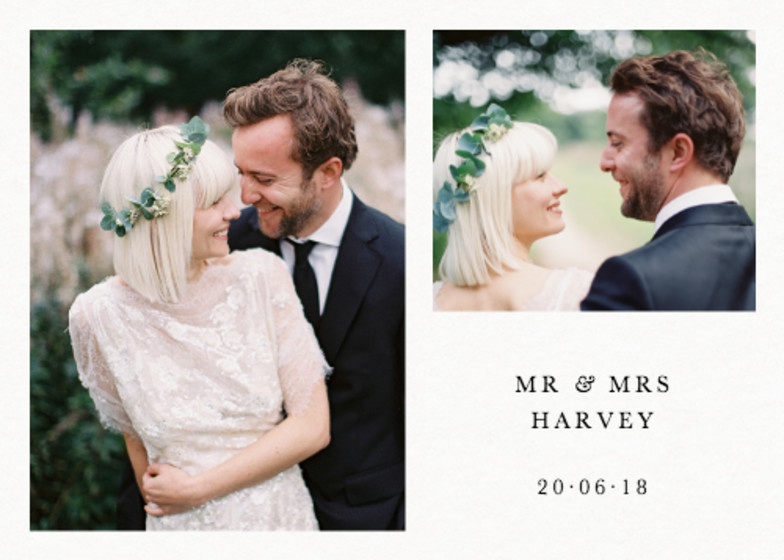 Landscape Wedding Thank You | Personalised Photo Card Set