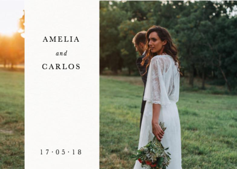 Landscape Wedding Band | Personalised Photo Card Set