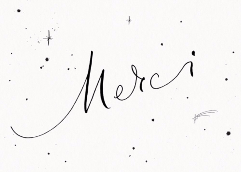 Merci Starry | Personalised Thank You Card
