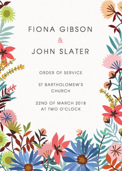 Meadow Flowers | Personalised Order Of Service