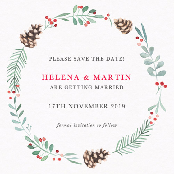 Pinecone | Personalised Save The Date