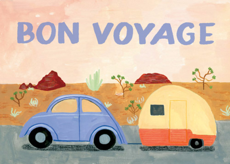 Bon Voyage Caravan | Personalised Good Luck Card
