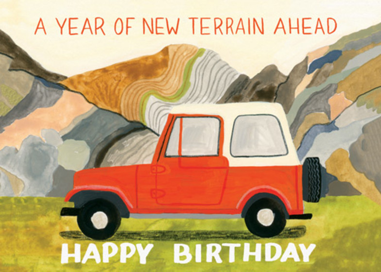 New Terrain | Personalised Birthday Card