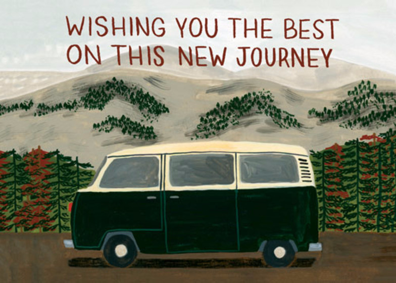 New Journey | Personalised Good Luck Card