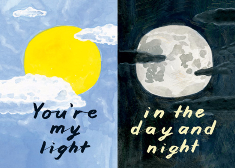 You're My Light | Personalised Greeting Card