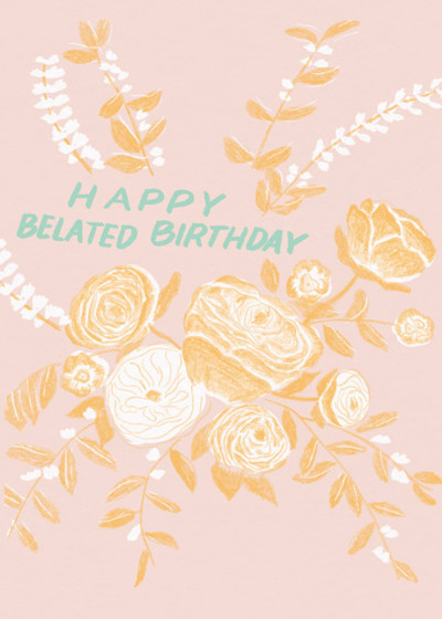 Bouquet Birthday   Personalised Birthday Card