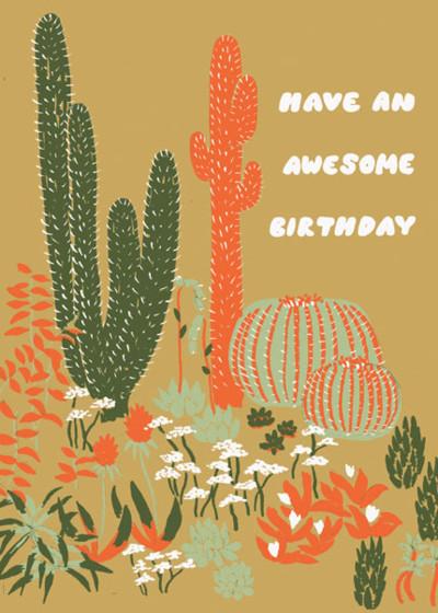 Cacti Birthday   Personalised Birthday Card