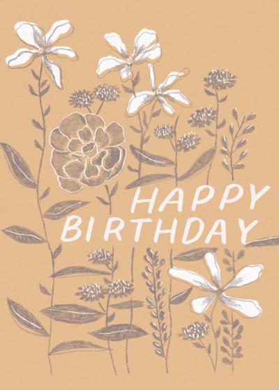 Growing Flowers   Personalised Birthday Card