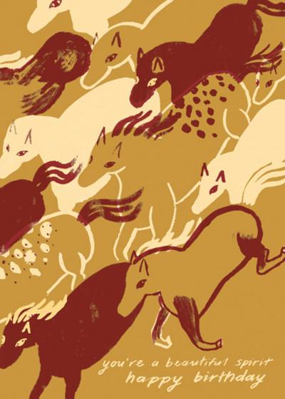 Spirited Horses | Personalised Birthday Card