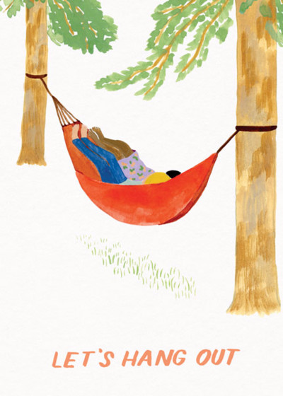Hammock Hang Out | Personalised Greeting Card