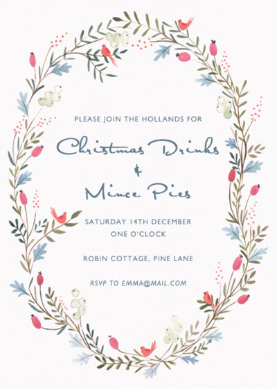 Winter Garland | Personalised Party Invitation