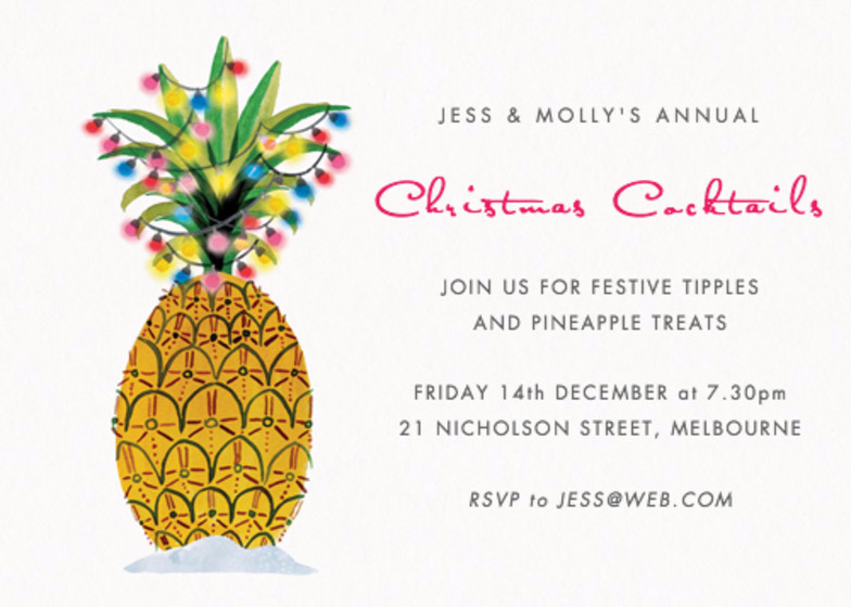 Christmas Pineapple | Personalised Party Invitation