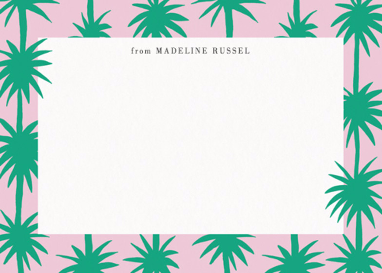 Row of Palms  | Personalised Stationery Set