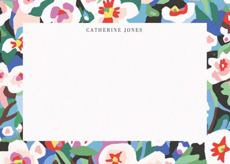 Abstract Flowers  | Personalised Stationery Set