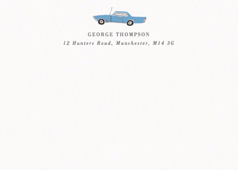 Vintage Car | Personalised Stationery Set