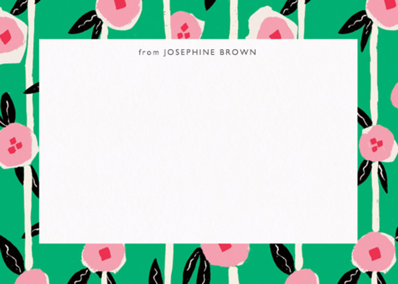 Flowers & Stripes  | Personalised Stationery Set