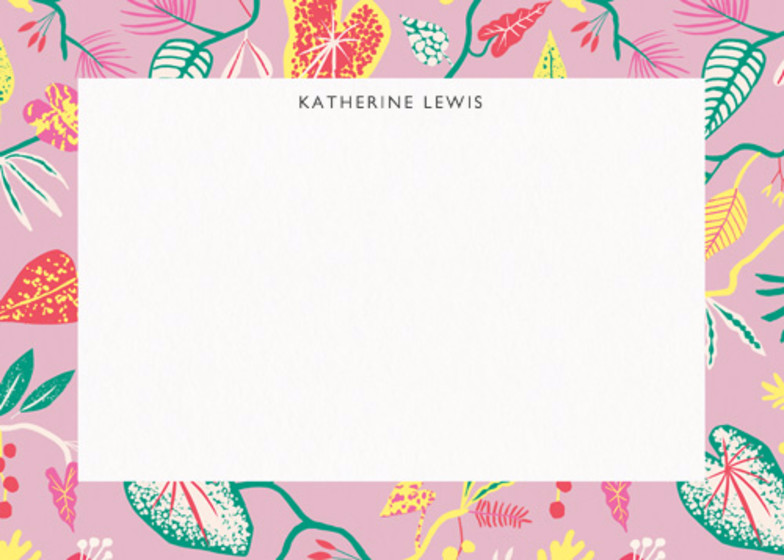 Bright Jungle  | Personalised Stationery Set