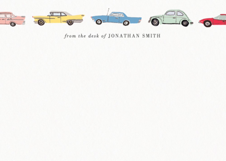 Vintage Cars | Personalised Stationery Set