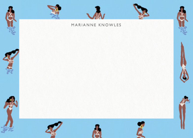 Swimming Ladies | Personalised Stationery Set