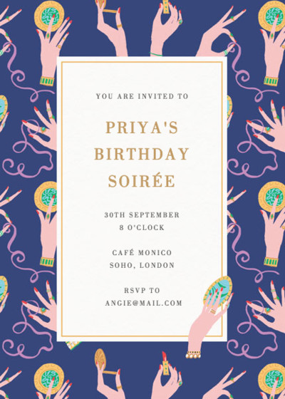 Vanity Table | Personalised Party Invitation
