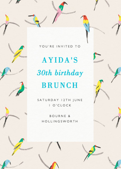 Parrots | Personalised Party Invitation